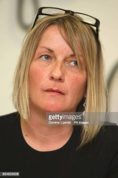 The mother of murdered Ben Kinsella Deborah Kinsella at a press conference in Barking Essex