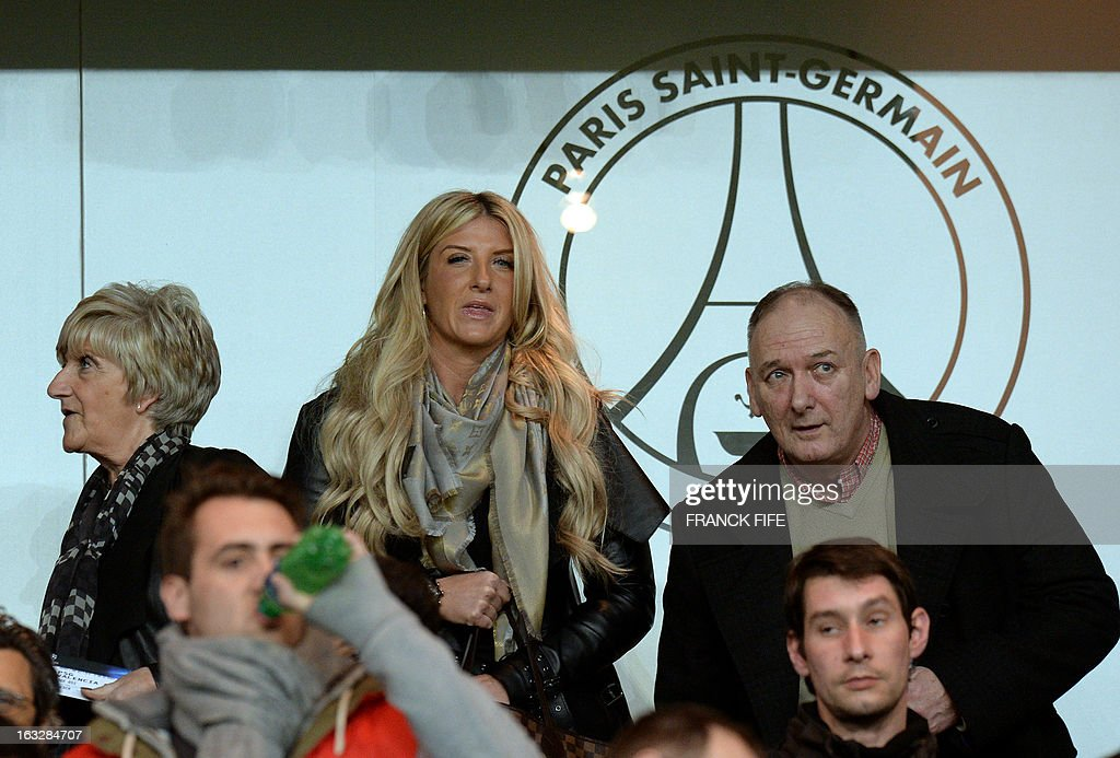 The mother of Paris Saint-Germain's English midfielder David Beckham, Sandra (L), and his sister, Joan (C), attend on March 6, 2013 a UEFA Champions League round of 16 second leg football match between Paris Saint-Germain and Valencia at the Parc-des-Princes stadium in Paris.