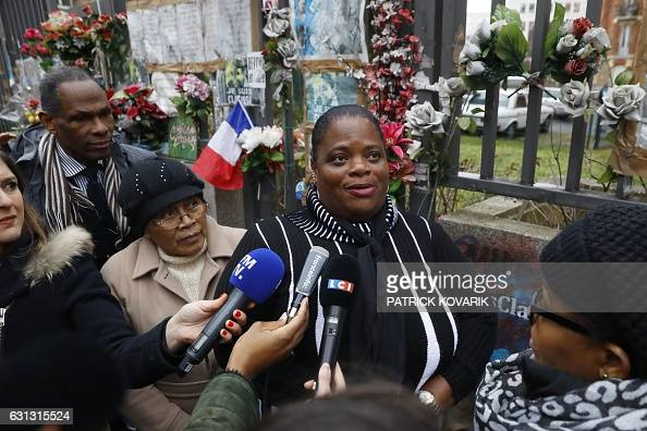 The mother of the late policewoman Clarissa JeanPhilippe speaks to journalists during a tribute ceremony two years after the killing of her daughter...