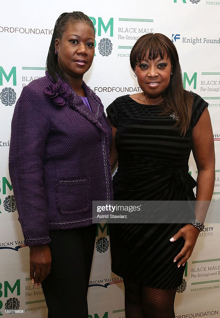 The mother of Trayvon Martin, <a gi-track='captionPersonalityLinkClicked' href=/galleries/search?phrase=Sybrina+Fulton&family=editorial&specificpeople=9024062 ng-click='$event.stopPropagation()'>Sybrina Fulton</a>, and <a gi-track='captionPersonalityLinkClicked' href=/galleries/search?phrase=Star+Jones&family=editorial&specificpeople=202645 ng-click='$event.stopPropagation()'>Star Jones</a> attend Black Male: Re-Imagined II at Ford Foundation on March 5, 2013 in New York City.