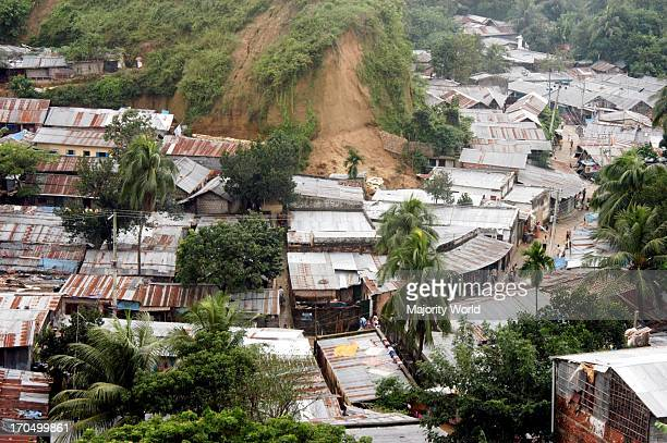 The MotiJhorna slum area prone to landslides Rural migration into in the port city of Chittagong has led to the creation of overcrowded slum areas...