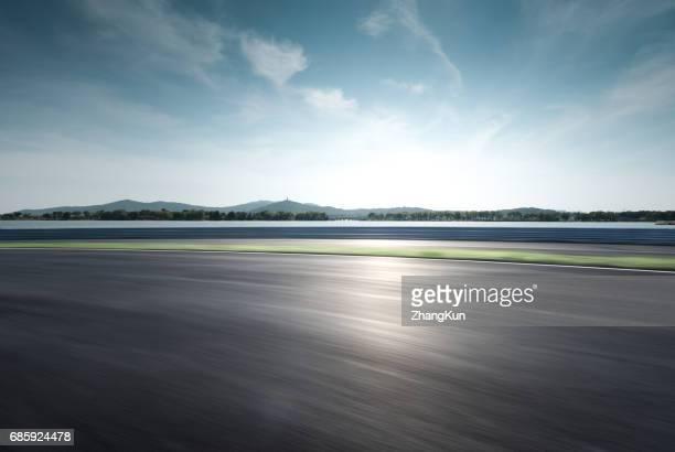 The motor racing track