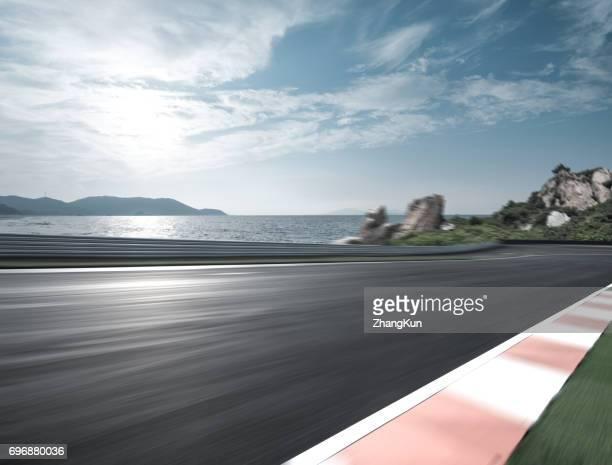 The motor racing tracks
