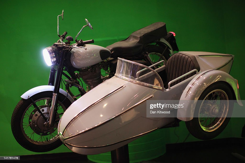 The motorbike and sidecar belonging to Harry Potter character Hagrid that was used the Harry Potter films is displayed at the new Harry Potter Studio Tour at the Warner Brothers Leavesden Studios on March 23, 2012 in London, England. The studio, which includes the actual sets and special effects departments where the films were created and shot, goes on public display on March 31, 2012.