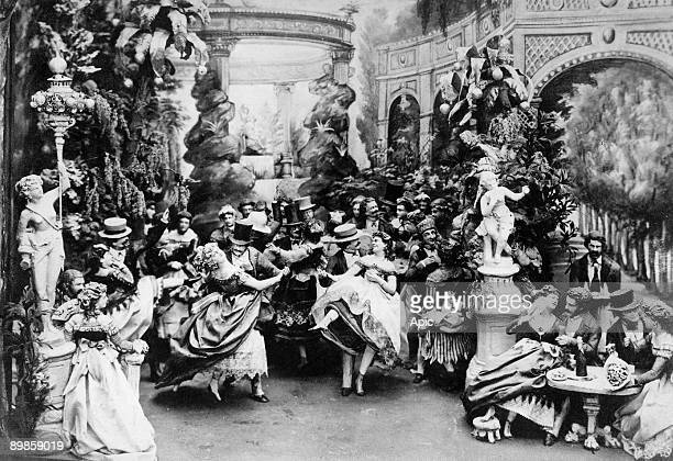the Moulin Rouge ball c 1900 in Paris