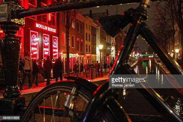 The Moulin Rouge in Amsterdam's Red Light District