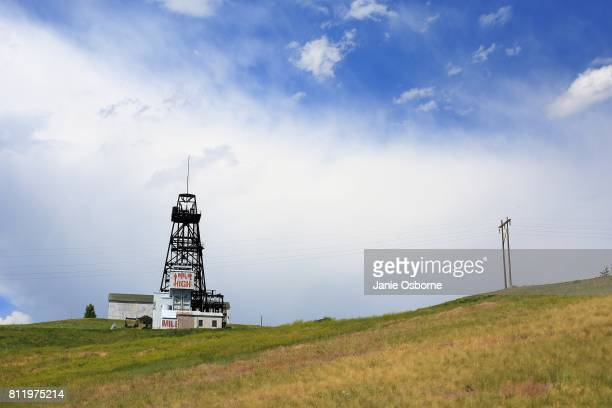 The Mountain Con gallows frame is seen on July 6 2017 in Butte Montana The frame and the town of Butte are one mile above sea level while the mine...