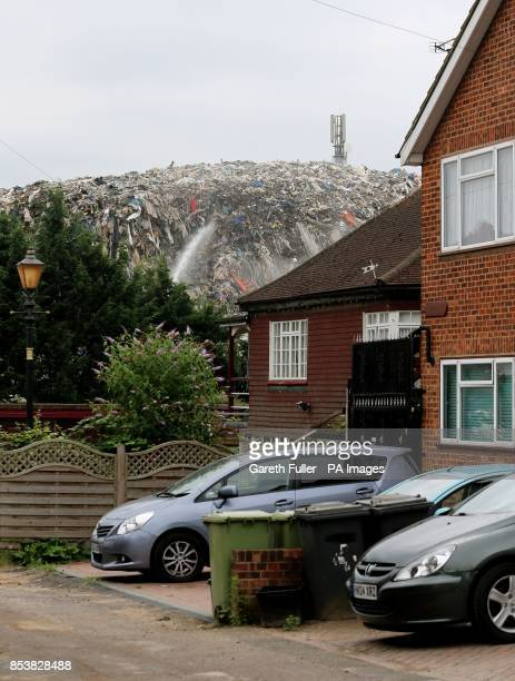 The mountain of rubbish which has been at the bottom of a residential culdesac Cornwall Drive in St Paul's Cray Orpington Kent for around three years