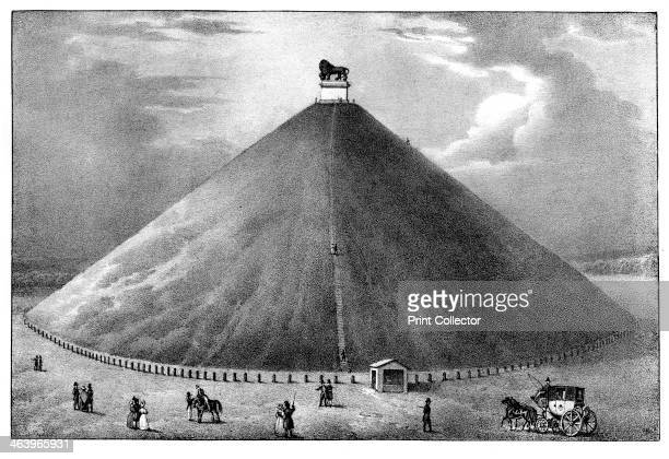 'The Mountain of the Lion' 19th century View of the monument to commemorate the place where William II of the Netherlands was knocked from his horse...