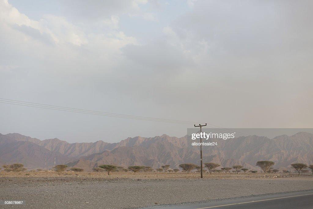 The mountainous landscape of Musandam, Dibba, UAE : Stock Photo
