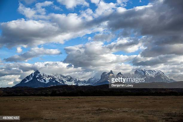 The mountainous landscape of Torres Del Paine national park in Chile on March 11 2015