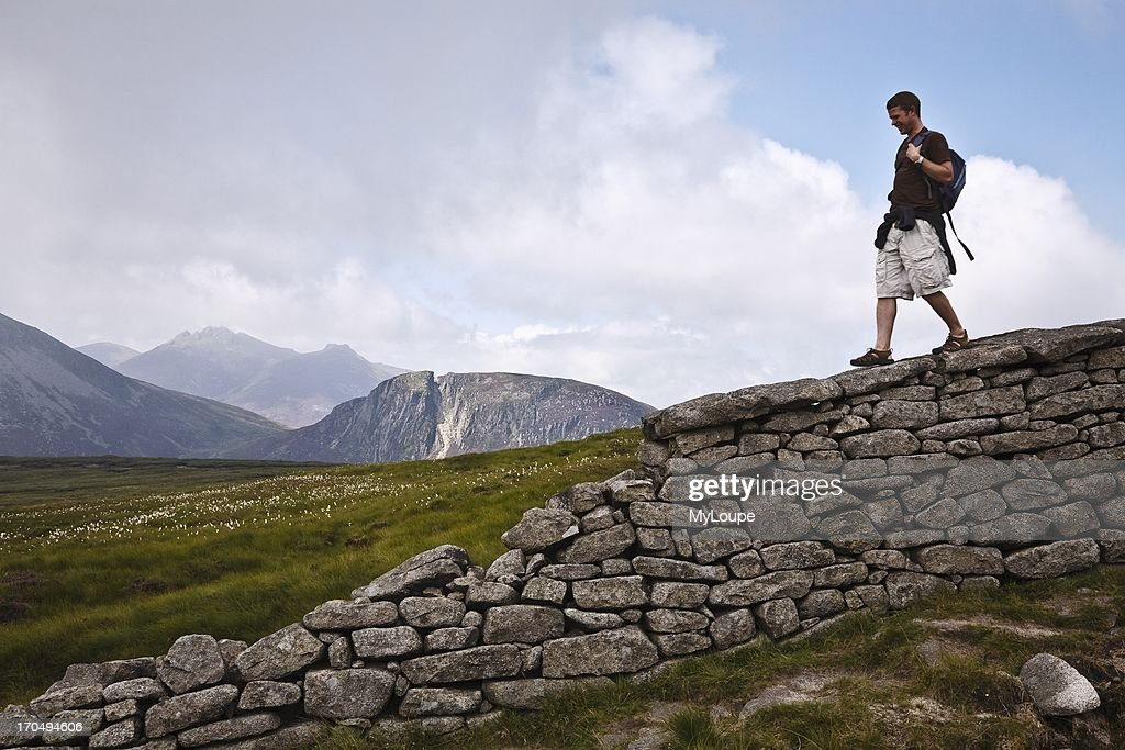 The Mourne Wall Slieve Donard Mourne Mountains County Down Northern Ireland United Kingdom