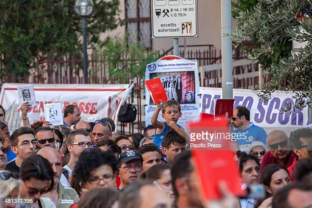The movement 'Red Diary and the police union are back in D'Amelio Street to commemorate Paolo Borsellino who was killed by the Mafia July 19 1992