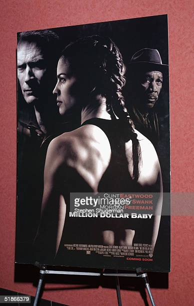 The movie's poster on display at the Variety Screening Series 'Million Dollar Baby' at the ArcLight Theater on December 15 2004 in Hollywood...