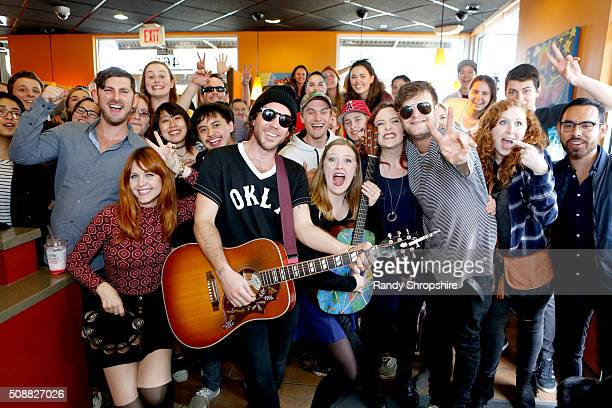 The Mowgli's surprise fans with a live performance at Taco Bell's preorder pickup of what could be its biggest food creation yet on February 6 2016...