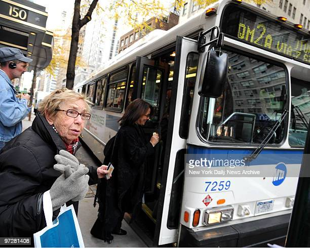 The MTA is raising the price of express buses angering passengers Passenger Flo Glickman waits for the express bus on East 57th st