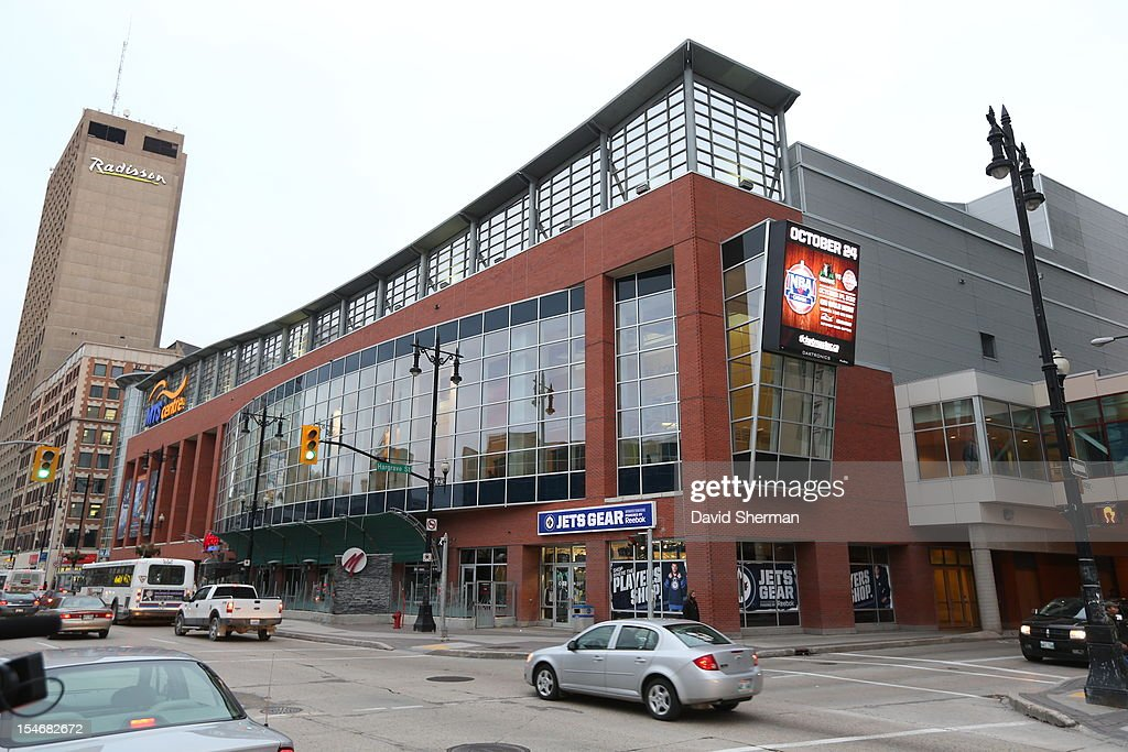 The MTS Centre prior to the preseason game between the Minnesota Timberwolves and the Detroit Pistons during the NBA preseason game as part of NBA Canada Series 2012 on October 24, 2012 in Winnipeg, Manitoba, Canada.