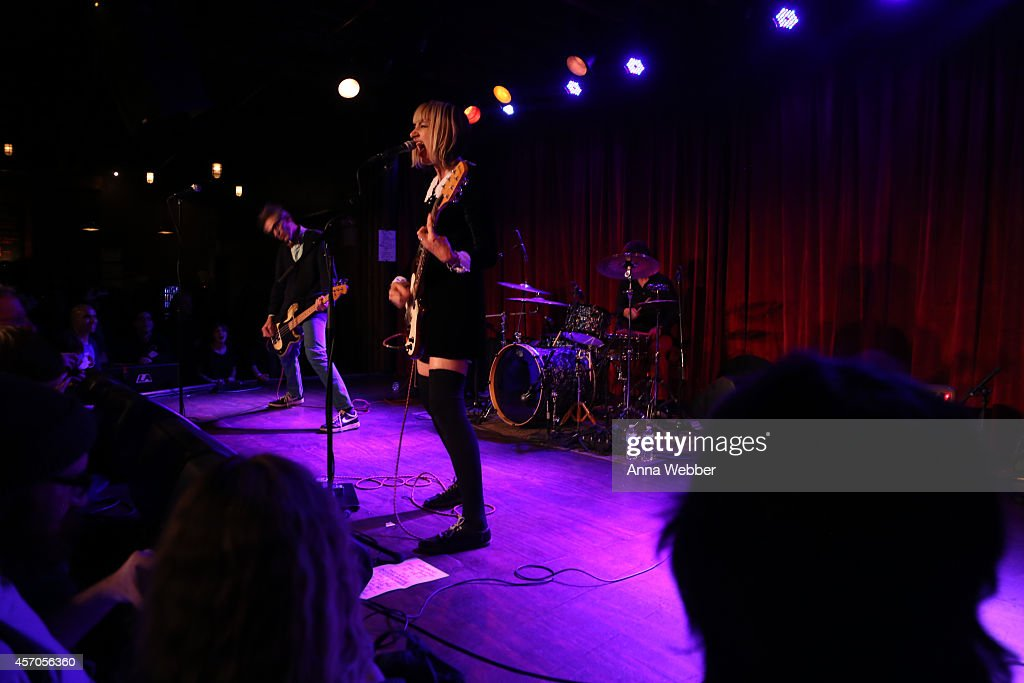 The Muffs perform during the CBGB Music Film Festival 2014 The Muffs Upset at The Bell House on October 10 2014 in Brooklyn City