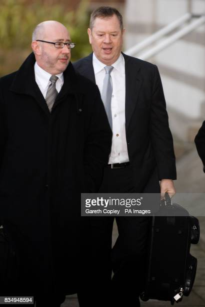The multimillionaire behind the DFS furniture chain Lord Kirkham arrives at Doncaster Crown Court where he is charged with attacking another man