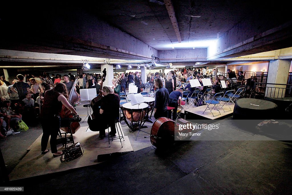The Multi-Story Orchestra at the Peckham Rye Car Park after a performance of Jean Sibelius' 5th Symphony on June 21, 2014 in London, England. The performance is one of a series that the orchestra will be performing in the South London car park throughout the summer, hoping to bring classical music to new audiences.