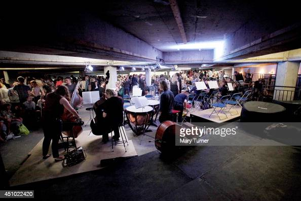 The MultiStory Orchestra at the Peckham Rye Car Park after a performance of Jean Sibelius' 5th Symphony on June 21 2014 in London England The...