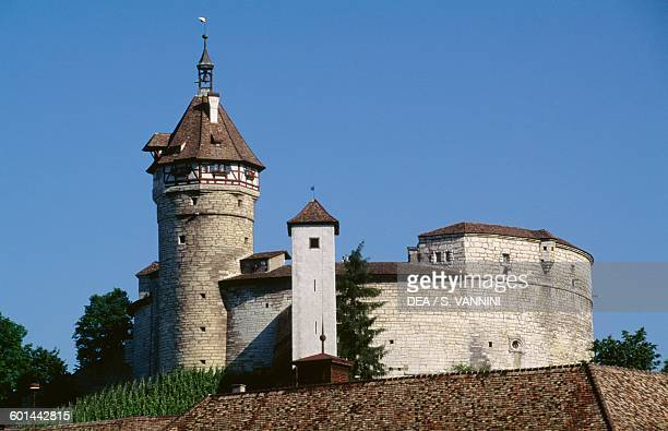 The Munot a circular fortification in the center of the city of Schaffhausen Canton of Schaffhausen Switzerland 16th century