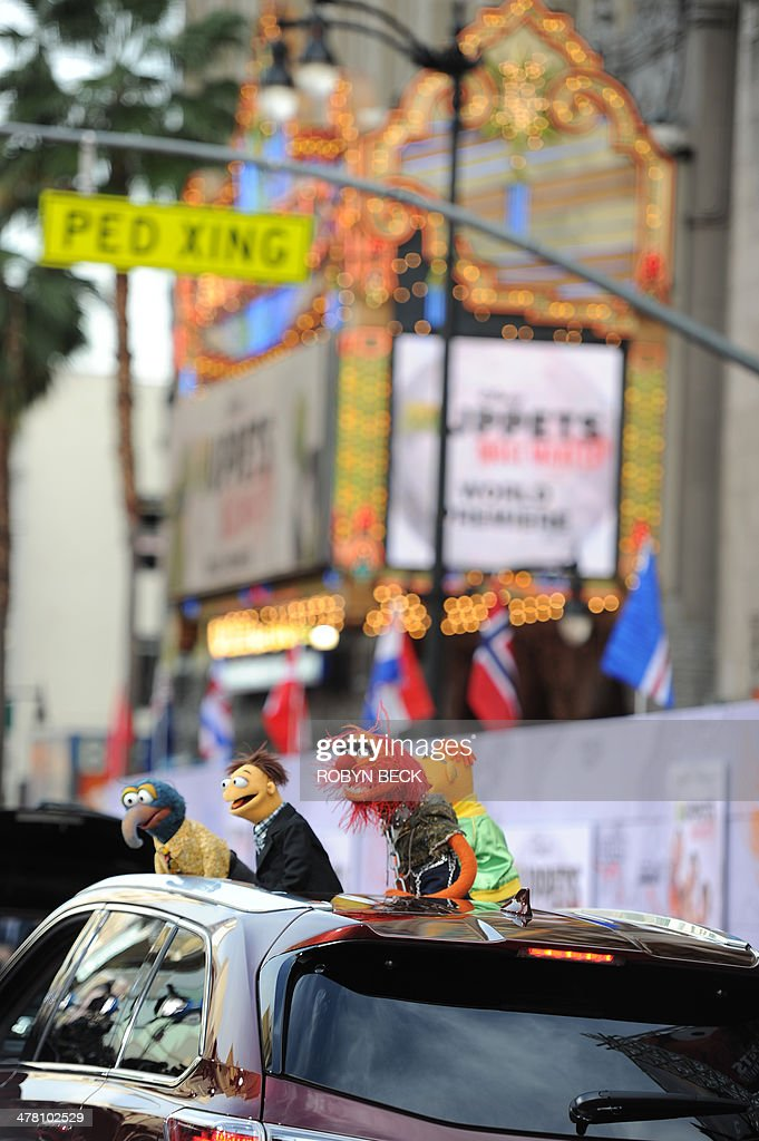 The Mupets arrive for the world premiere of Disney's 'Muppets Most Wanted,' March 11, 2014 at El Capitan Theatre in Hollywood, California.