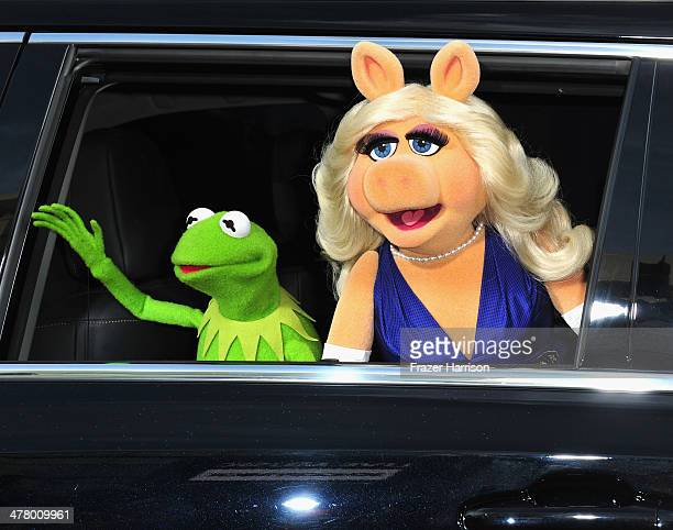 The Muppets arrive at the premiere of Disney's 'Muppets Most Wanted' at the El Capitan Theatre on March 11 2014 in Hollywood California