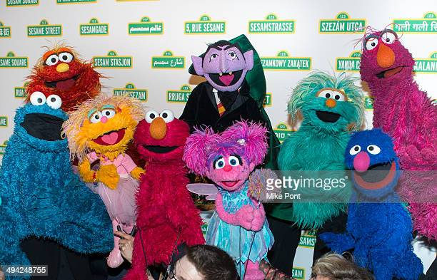 The Muppets attend the 12th Annual Sesame Workshop Benefit Gala at Cipriani 42nd Street on May 28 2014 in New York City