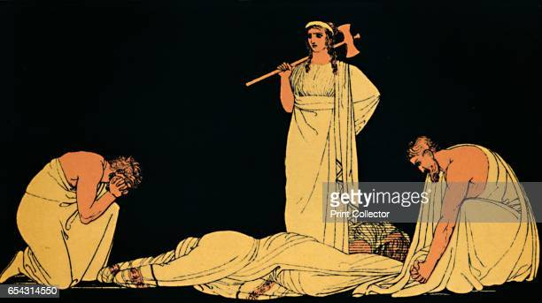 The Murder of Agamemnon 1880 Agamemnon mudered in cold blood by Clytemnestra and Aegisthus in vengeance for Iphigenias death and all the grief hed...