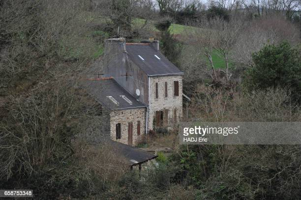 the murder of the family Troadec by the brother in law view of the farm in PontdeBuis where the murderer Hubert Caouissin has cut in pieces the 4...