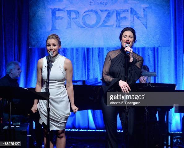 FOREVER the music of Disney's 'Frozen' was celebrated with live performances at Los Angeles Vibrato Grill Jazz club tonight Kristen Bell Idina Menzel...