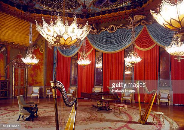 The Music Room Royal Pavilion Brighton East Sussex 1960s The Pavilion was originally built in 17861787 by Henry Holland for King George IV then...