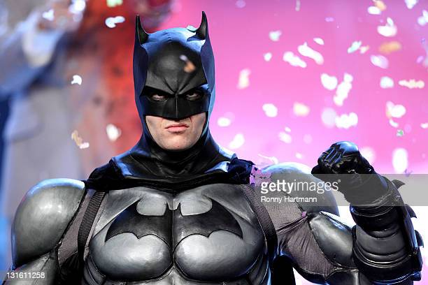 The musical 'Batman' is performed during the 198th 'Wetten dass ' show at Messe Leipzig on November 5 2011 in Leipzig Germany