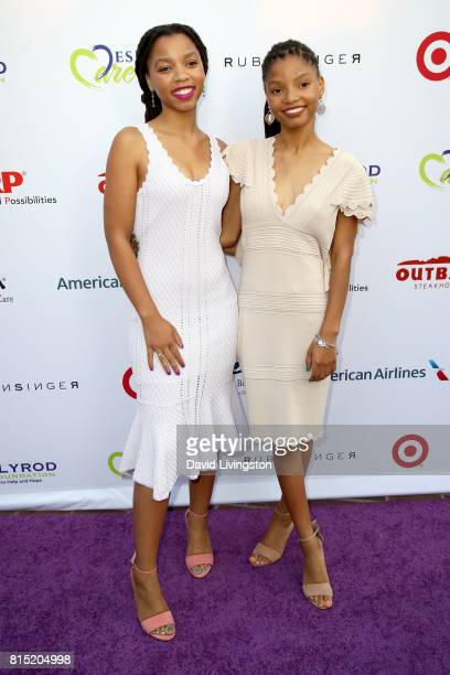 The musical duo Chloe X Halle attends the 19th Annual DesignCare 2017 at Private Residence on July 15 2017 in Pacific Palisades California