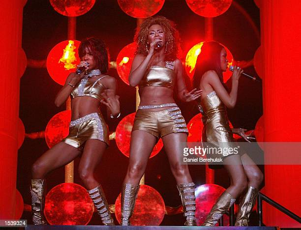 The musical group Destiny's Child performs at the Entertainment Centre May 1 2002 in Sydney Australia