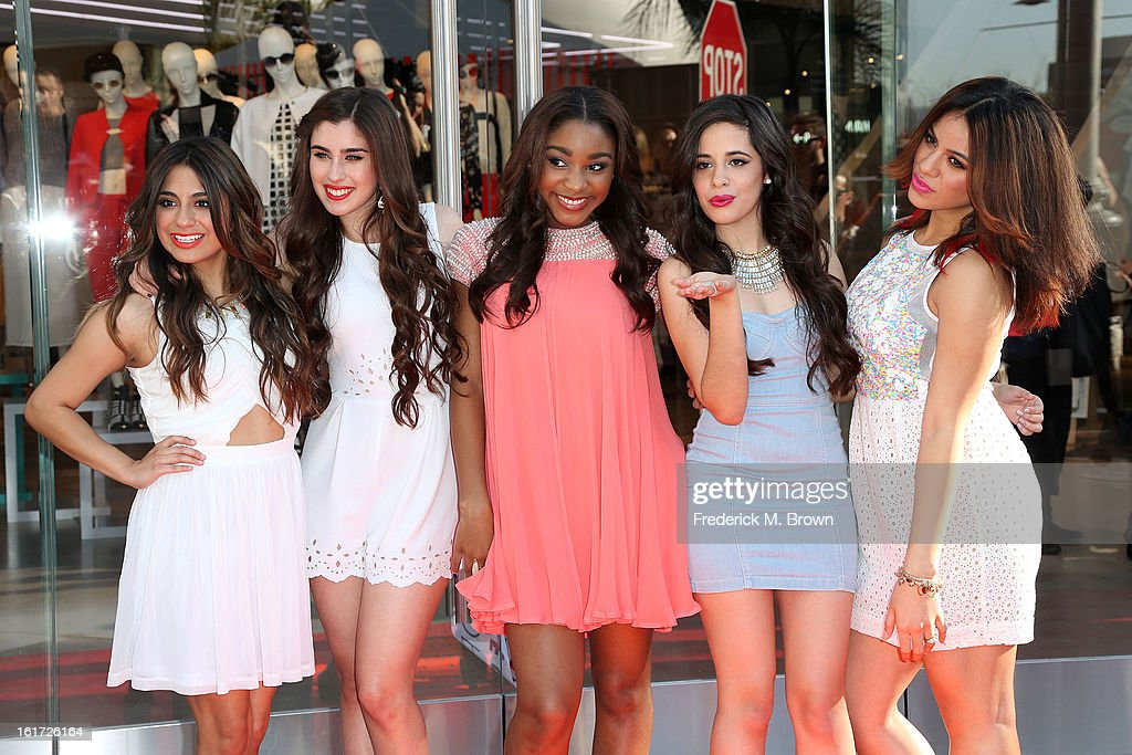 The musical group Fifth Harmony attends the Topshop Topman LA Grand Opening at The Grove on February 14, 2013 in Los Angeles, California.