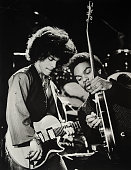 The musician Prince is shown in concert with guitarist Dez Dickerson in his first public concert at the Capri Theater on January 5 1979 in...