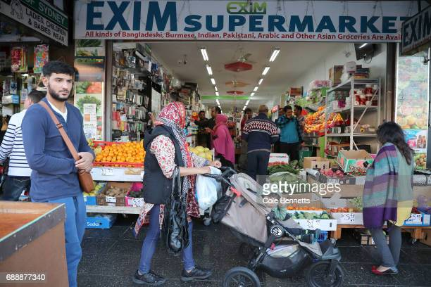 The Muslim community buys groceries in preperation to break the first fast of Ramadan in the southwestern suburb of Lakemba on May 27 2017 in Sydney...