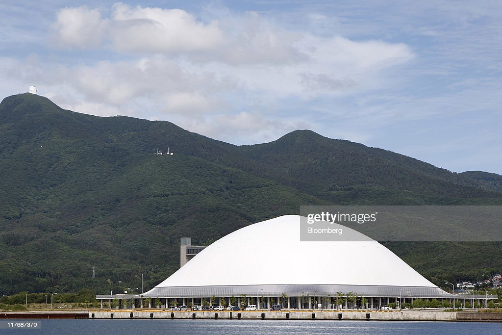 The Mutsu City Wellness Park stands in Mutsu City, Aomori Prefecture, Japan, on Sunday, June 26, 2011. In Mutsu, a city of 60,000 about 35 kilometers southeast of Oma, grants from hosting a Japan Atomic Energy Agency nuclear waste facility paid for a $78 million sports dome, where residents can use a gym, pool, baseball fields and tennis courts for 300 yen ($3.70). Photographer: Kiyoshi Ota/Bloomberg via Getty Images