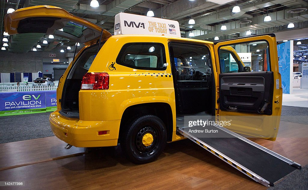 The MV-1, made by Vehicle Production Group (VPG) is introduced at the 2012 New York International Auto Show on April 5, 2012 in New York City. The wheelchair-friendly taxi requires no aftermarket work to admit wheelchair passengers, and meets all guidelines set by the Americans with Disabilities Act. The New York International Auto Show features nearly 1,000 brand new vehicles from all auto industry sectors and is open to the public April 6-15.