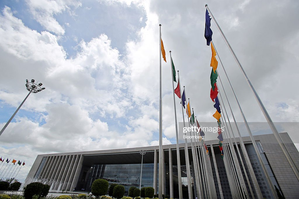The Myanmar International Convention Center stands ahead of the World Economic Forum on East Asia in Naypyidaw, Myanmar, on Wednesday, June 5, 2013. Myanmar hosts the three-day World Economic Forum on East Asia starting today, with heads of state and executives from companies including General Electric Co., Coca-Cola Co. and WPP Plc attending. Photographer: Dario Pignatelli/Bloomberg via Getty Images