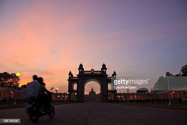 The Mysore Maharaja Palace built in the indosaracenic style at December 18 2011 in Mysore Karnataka India The Mysore Palace is one of the largest and...