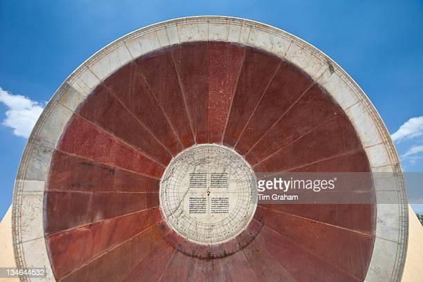 The Nadivalaya Yantra equatorial instrument at Jantar Mantar The Observatory in Jaipur Rajasthan Northern India#13#10#13#10