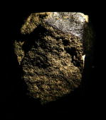 The Nahkla a highly rare Martian meteorite which fell to the Earth and landed in Egypt in 1911 is now on display at the Vault on November 27 2007 in...