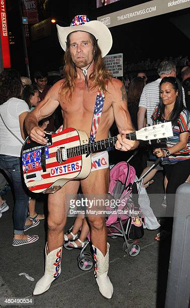 The Naked Cowboy is seen on July 11 2015 in New York City