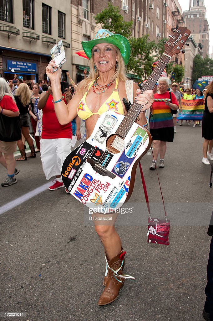 'The Naked CowGirl' Cindy Fox attends The March during NYC Pride 2013 on June 30, 2013 in New York City.