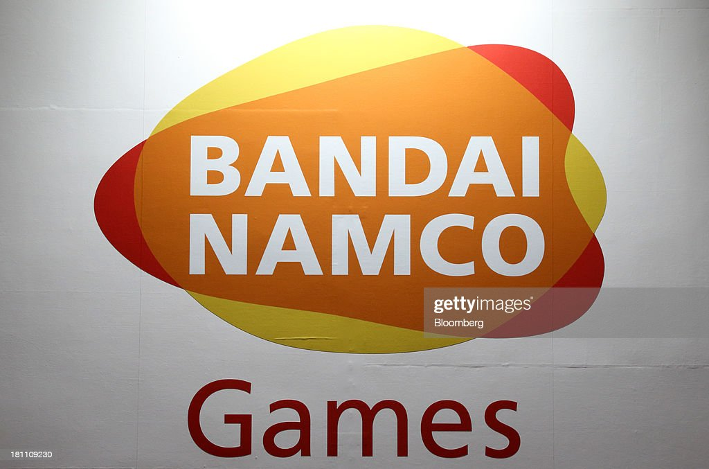 The Namco Bandai Holdings Inc. logo is displayed at the Tokyo Game Show 2013 in Chiba, Japan, on Thursday, Sept. 19, 2013. The Tokyo Game Show runs till Sept. 22. Photographer: Tomohiro Ohsumi/Bloomberg via Getty Images