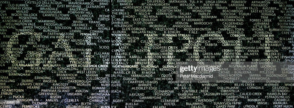 The name of battle site GALLIPOLI stands out on the Australian War Memorial on April 25, 2007 in London. The yearly ANZAC memorial service remembers the soldiers of Australia and New Zealand who fought in the two World Wars and came into being after the heroic campaign that followed the landings at ANZAC Cove in Gallipoli on April 25, 1915 in which the Allies lost 50,000 casualties in their battle with Turkish forces. The new memorial on Hyde Park Corner in central London is engraved with 24,000 names of the hometowns of Australian men and women who served in the two World Wars. Superimposed on these place names are 47 battle sites representing some of the major theatres of war where Australians served.