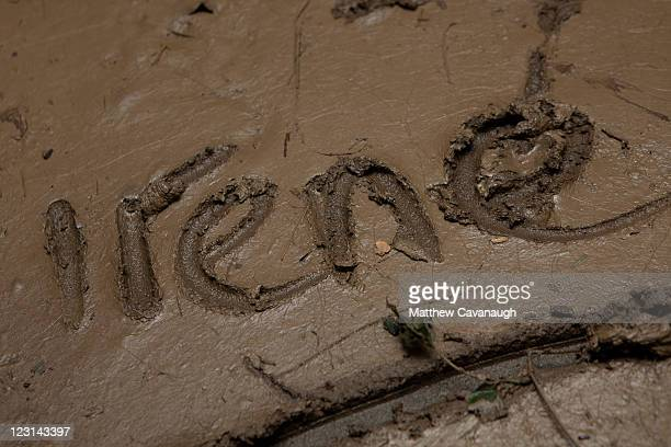The name of the storm that flooded Wilmington Vermont written by a volunteer on a muddy pool table at The Crafts Inn on West Main Street where...